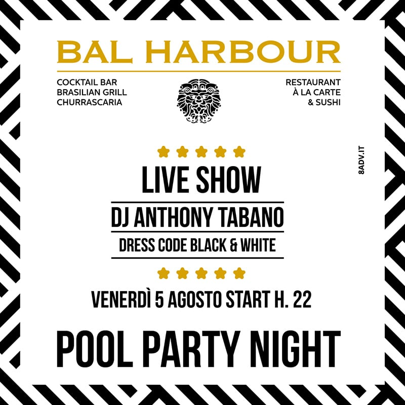 Pool Party Night - 5 Agosto 2016