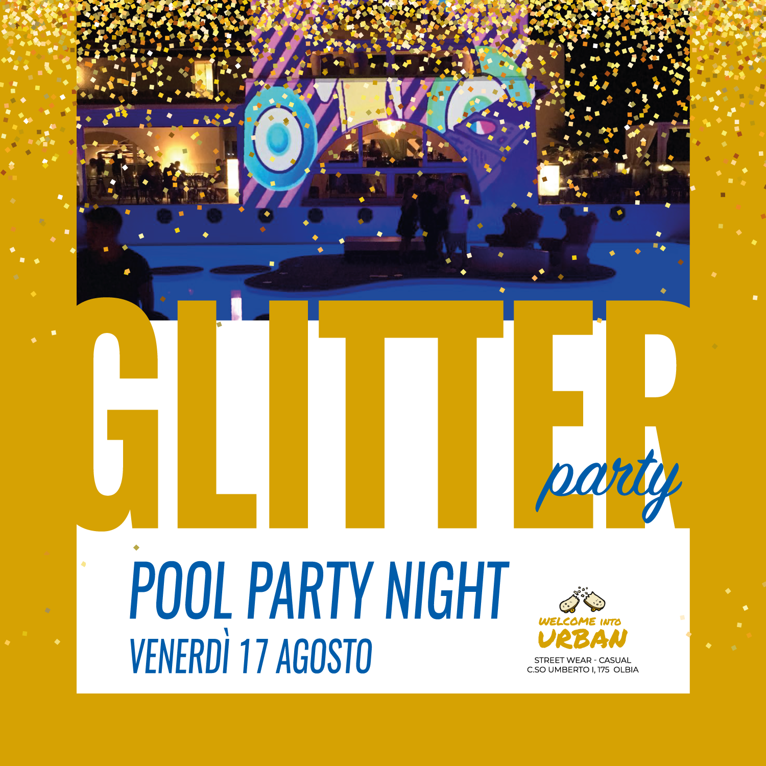 pool party glitter