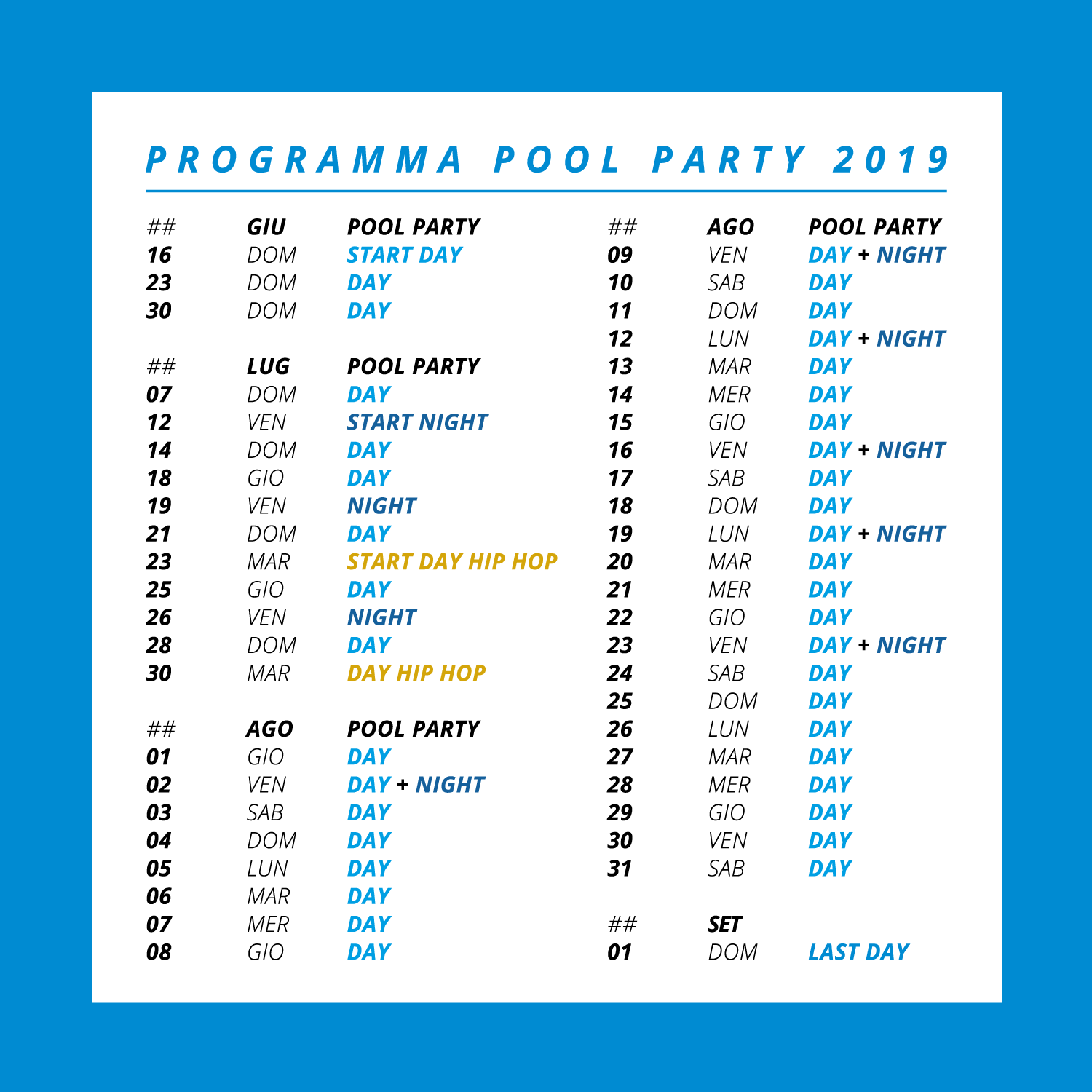 programma pool party bal harbour