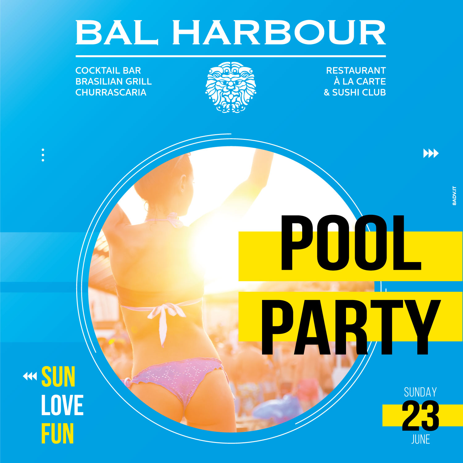 23 Giugno pool party bal harbour san teodoro