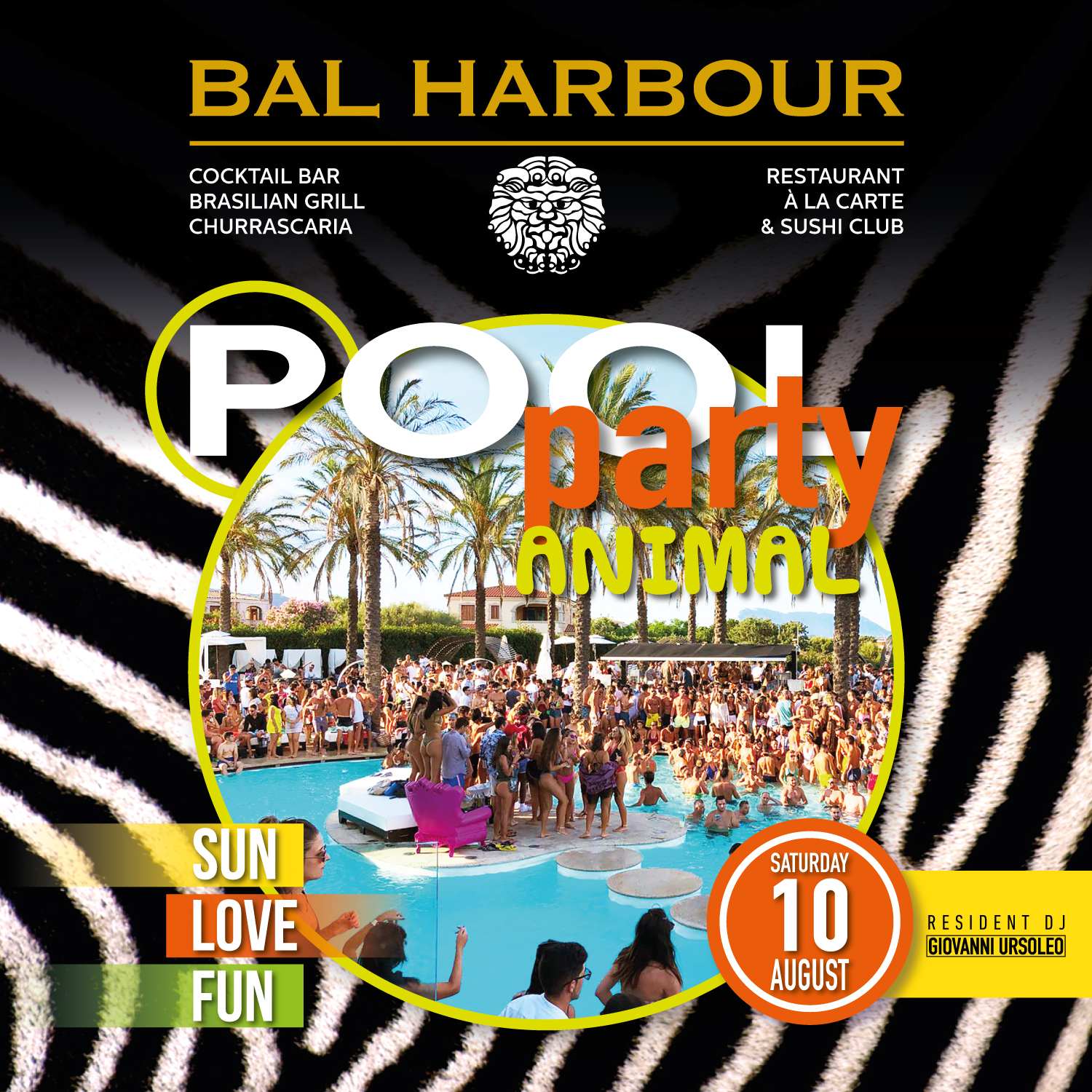 animal pool party bal harbour san teodoro summer sardegna
