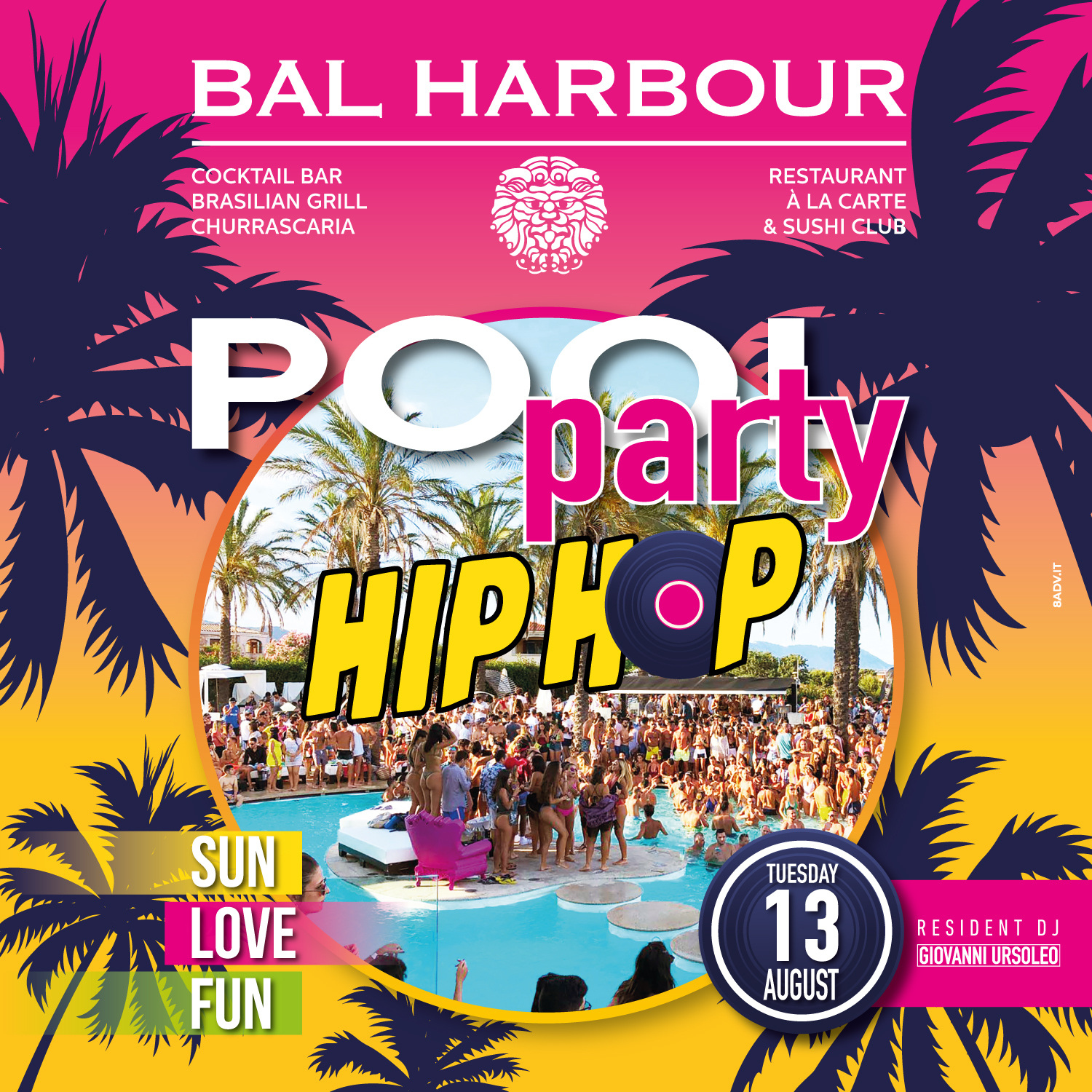 hip hop pool party bal harbour san teodoro summer sardegna