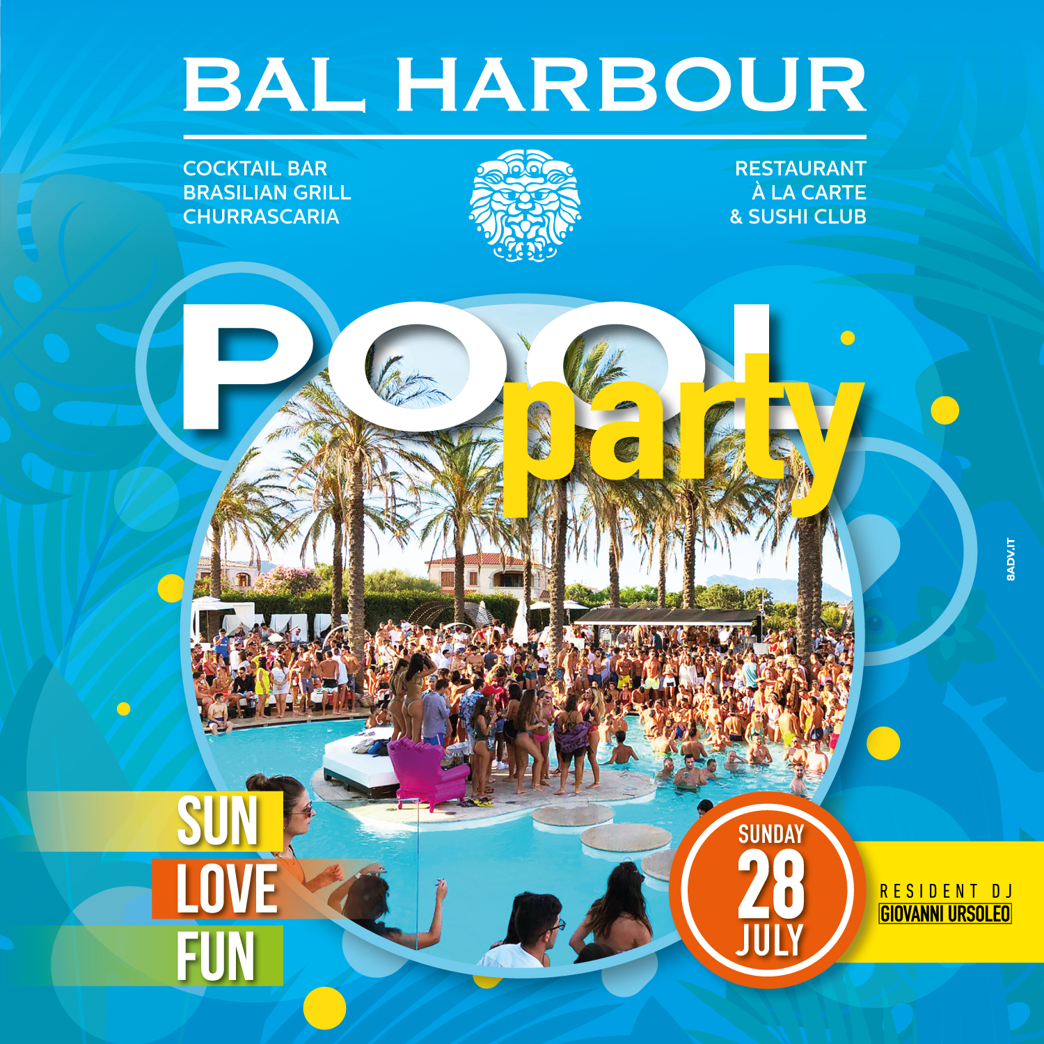 pool party bal harbour san teodoro summer sardegna