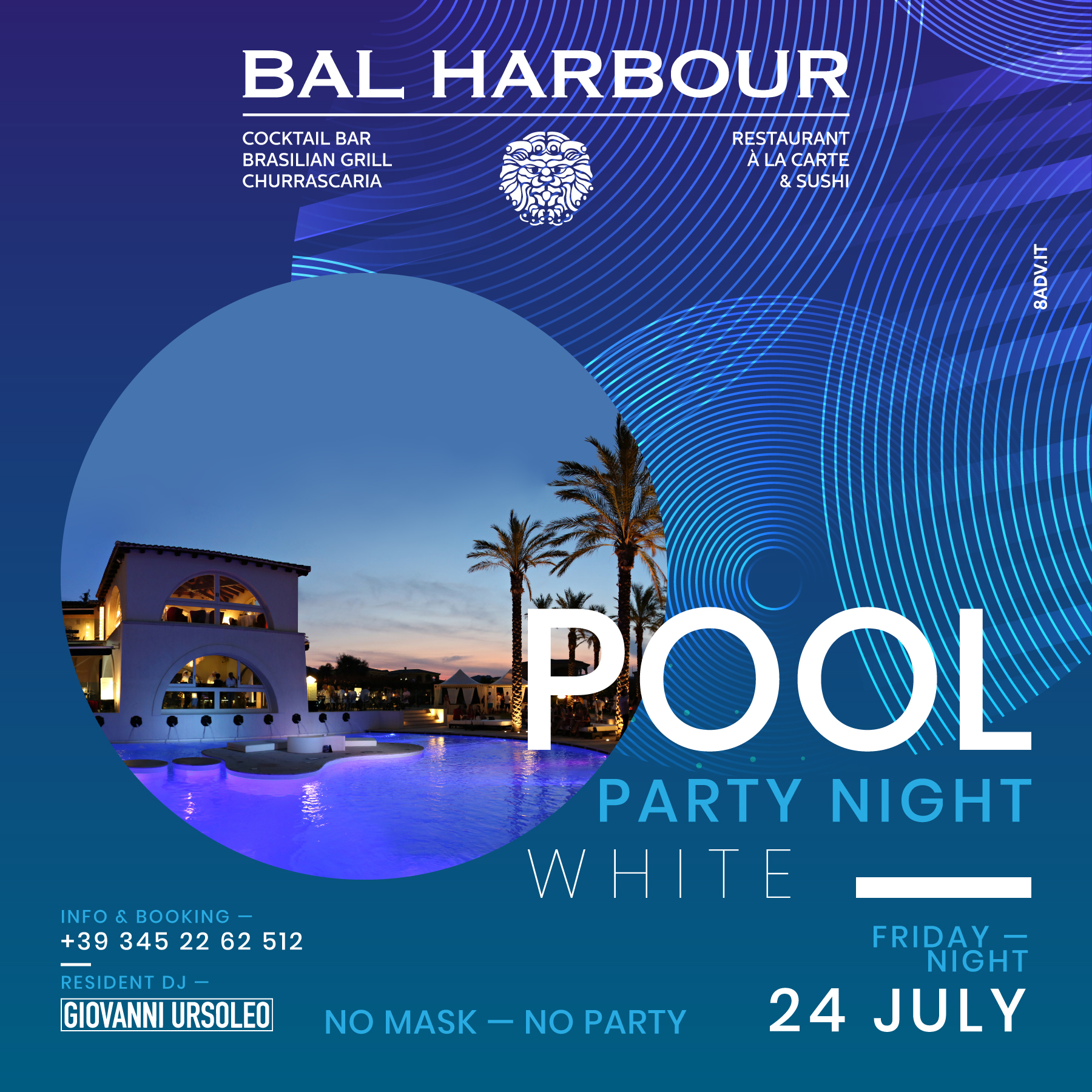 Pool Party Night White