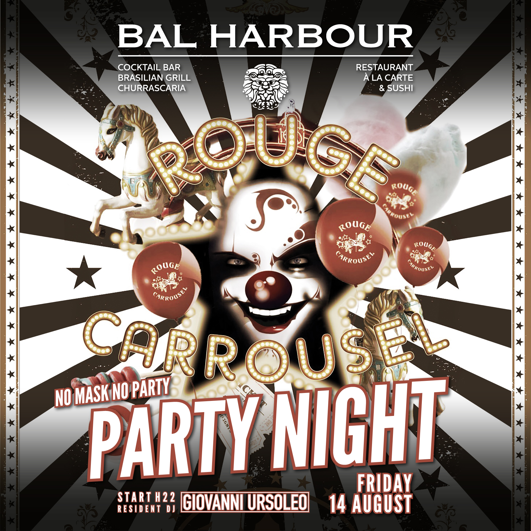 Party Night Rouge Carrousel
